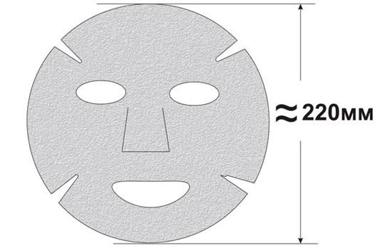 Выкройка тканевой маски для лица