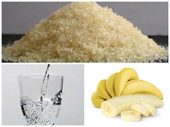 банановая маска с желатином