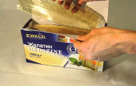 желатин в пластинах для масок